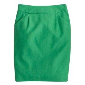 J Crew Pencil Skirt Succulent Green size 8